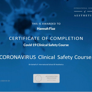 COVID - Clinical Safety Certified