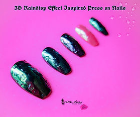 Bubble Effect Press on Nails