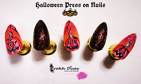 Halloween Inspired Press on Nails