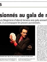Des passionnés au gala de magie - Courrier Picard