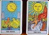 Tarot Card The Moon & The Sun