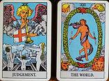 Tarot Card Judgement & The World