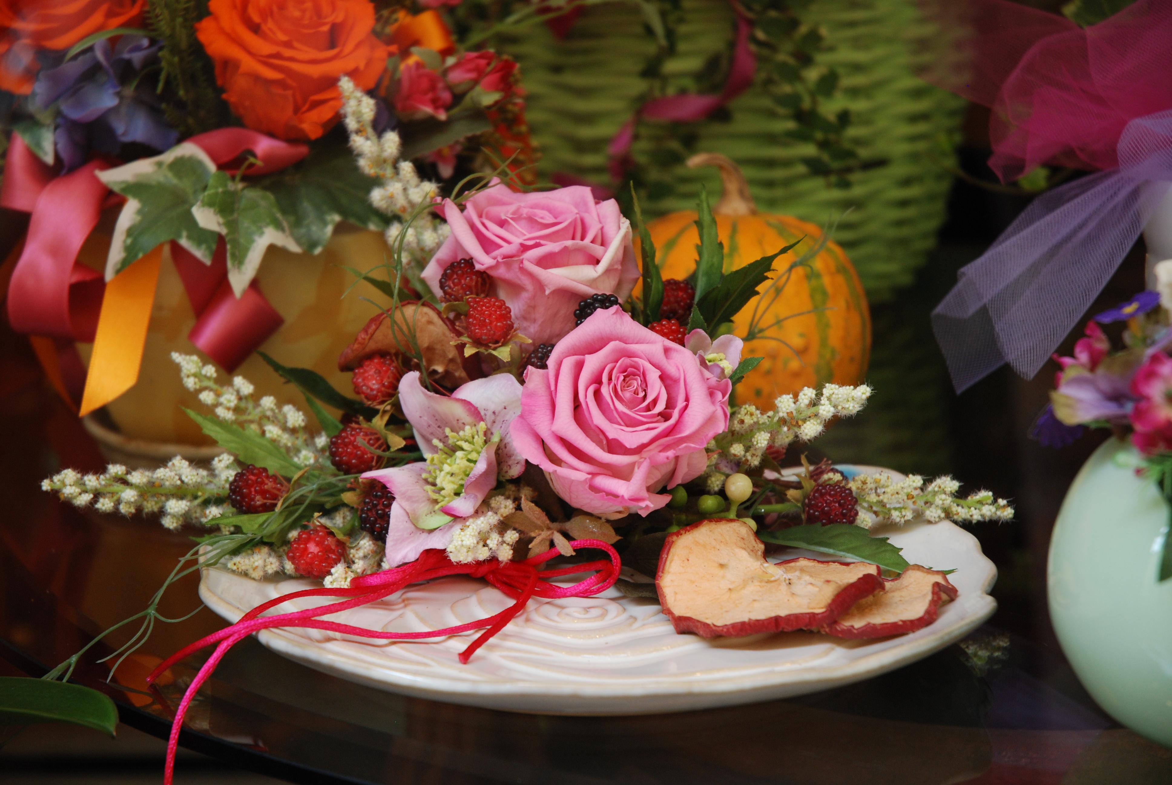 Composizione di rose stabilizzate