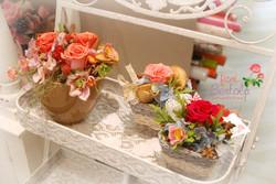 cestini con rose