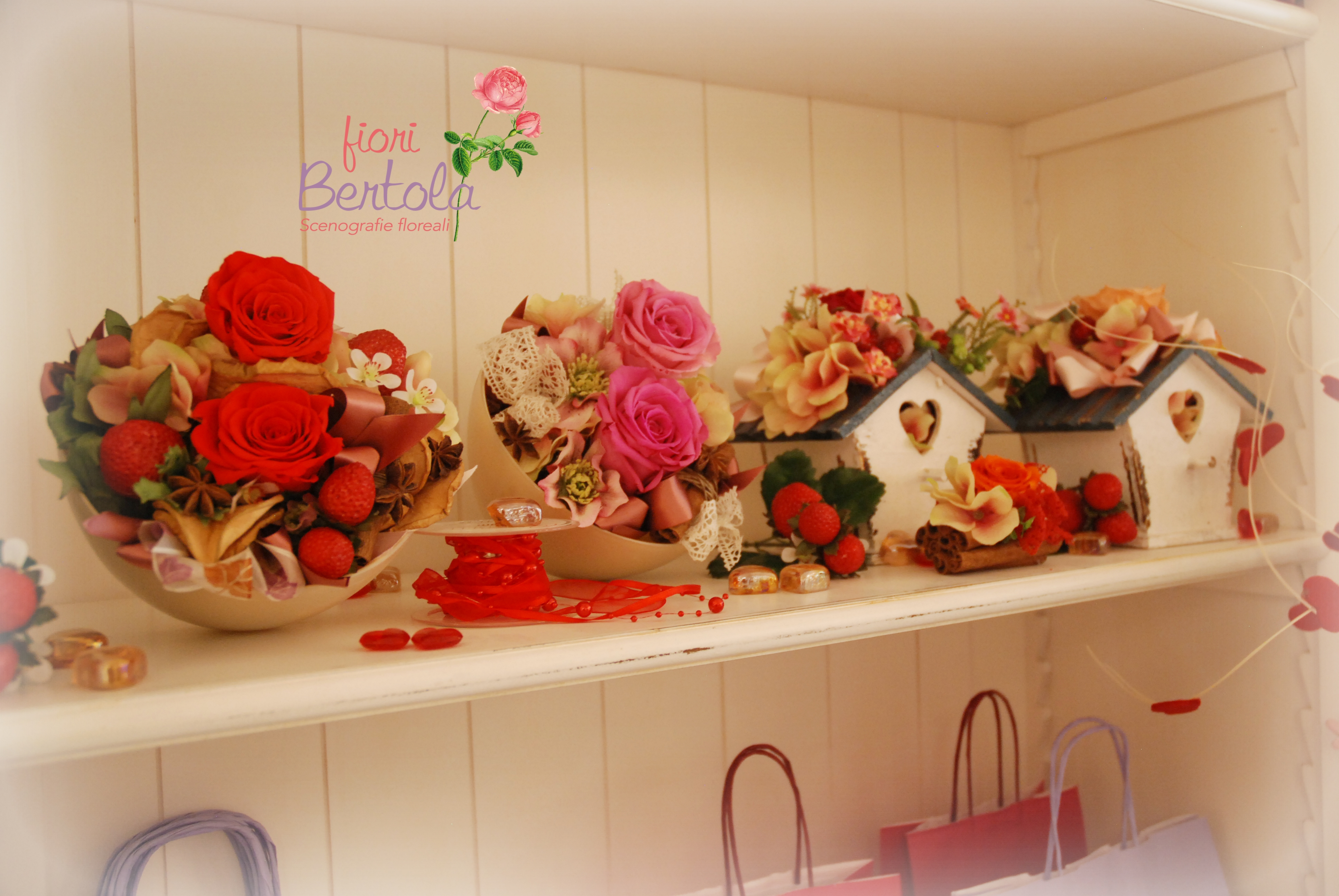Composizioni floreali rose