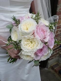 Bouquet da Sposa rotondo con rose