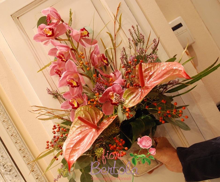 vaso funebre fiori