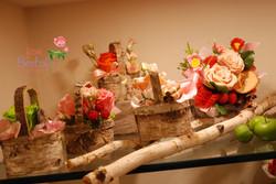 Rose autunnali con legno