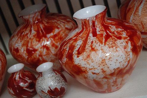 Vasi in vetro artistici Rosso fuoco (€28-€145)