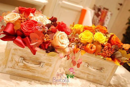 Composizioni 5/12 rose stabilizzate (€68/140)