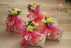 Borsine fiorite, confezione regali