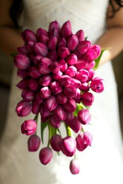 Bouquet Sposa a cascata di tulipani
