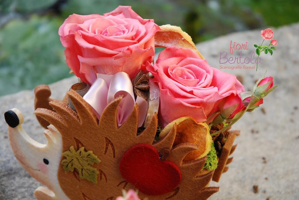 Ricci con rose stabilizzate