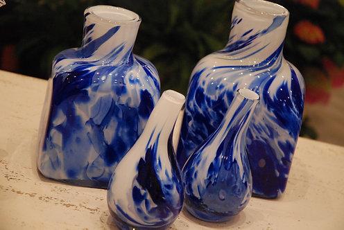 Vasi in vetro artistici Colori freddi (€18-€110)