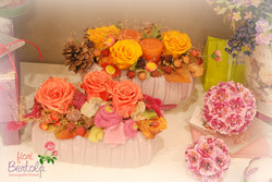 Composizioni con rose stabilizzate