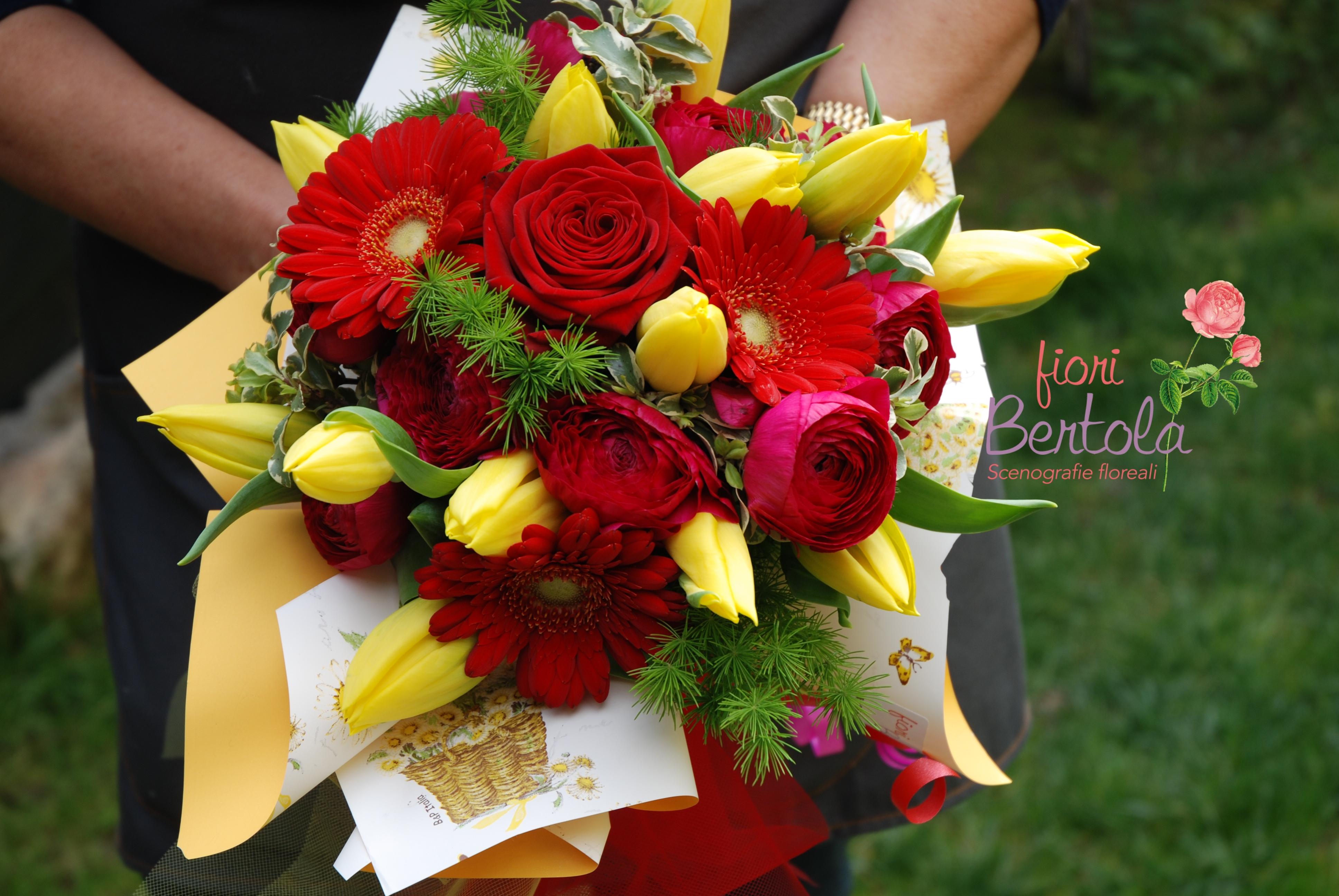 Bouquet rosso-giallo