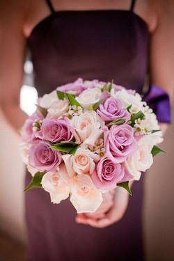 Bouquet da Sposa con rose lilla