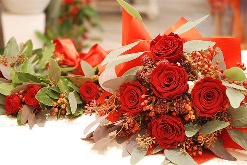 Bouquet di laurea stabilizzato coordinato (€75/150)