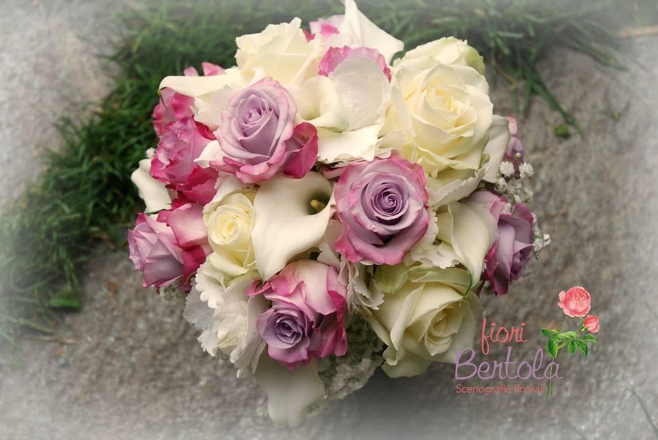 Bouquet Sposa rose lilla e calle