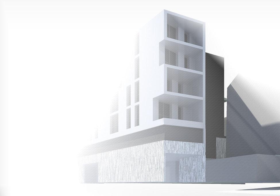concours immeuble d'habitation rue dutreix limoges habitat TNT Architecture contemporaine béton acier onirique