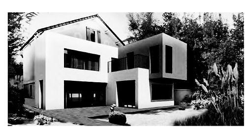 vue en perspective projet extension maison pavillon à Neuilly-sur-Marne par TNT Architecture