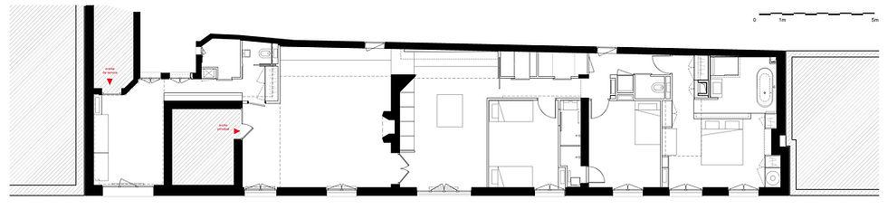 plan d'appartement, travaux appartement, restructuration appartement, rénovation appartement haussmannien paris 16, 75016, architecte paris, architecte. paris 16, architecte dplg, TNT Architecture, architecte d'intérieur, astuces aménagement appartement