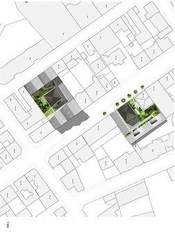 logements collectifs et individuel plan architecte TNT Architecture Limoges plan de masse