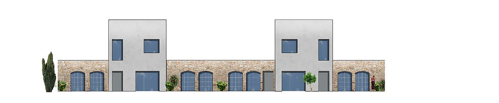 élévaion sur rue labussières à limoges construction de logements individuels groupés limoges par l'agence parisienne TNT Architecture