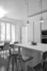 cuisine ilôt - rénovation appartement luxe paris 16ème arrondissement