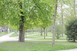 parc Le Nôtre face au collège inspiration zig zag