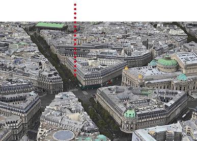 vue aérienne quartier opéra immeuble ilôt classé inscrit ISMH Architecte paris TNT Architecture