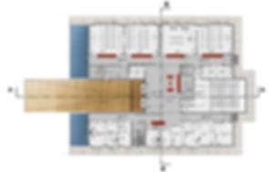 plan du RDC concours pour la construction d'un ERP enseignement à Narbonne par l'Architecte TNT Architecture Paris
