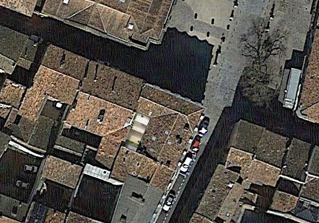 plan de masse vue aérienne théatre rue marie lafond montauban rénovation cour secteur sauvegardé par TNT Architecture architecte Nathalie Taillefer Architecte DPLG Paris Montauban