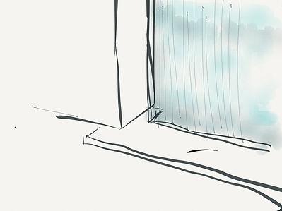 sketch concept architectural showcase retail shop luxe architect paris tnt architecture best