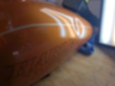 paintless dent repair harley davidson gas tank