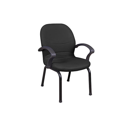 Madrid Leather Office Chair 109W - Black
