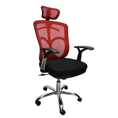 copy of Mesh Office Chair 028-A Red black