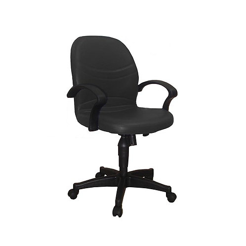 Leather Office Chair 109B - Black