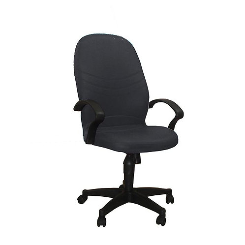 Madrid Leather Office Chair 109A - Black