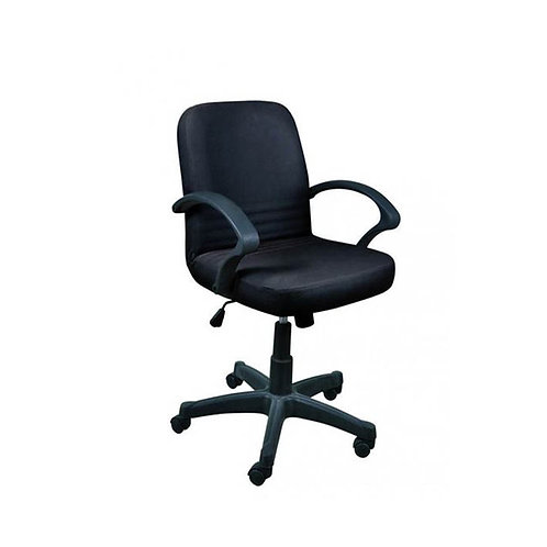 Nova Leather Office Chair 112B - Black