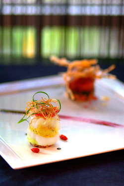 """scallop """"raw & cooked"""""""