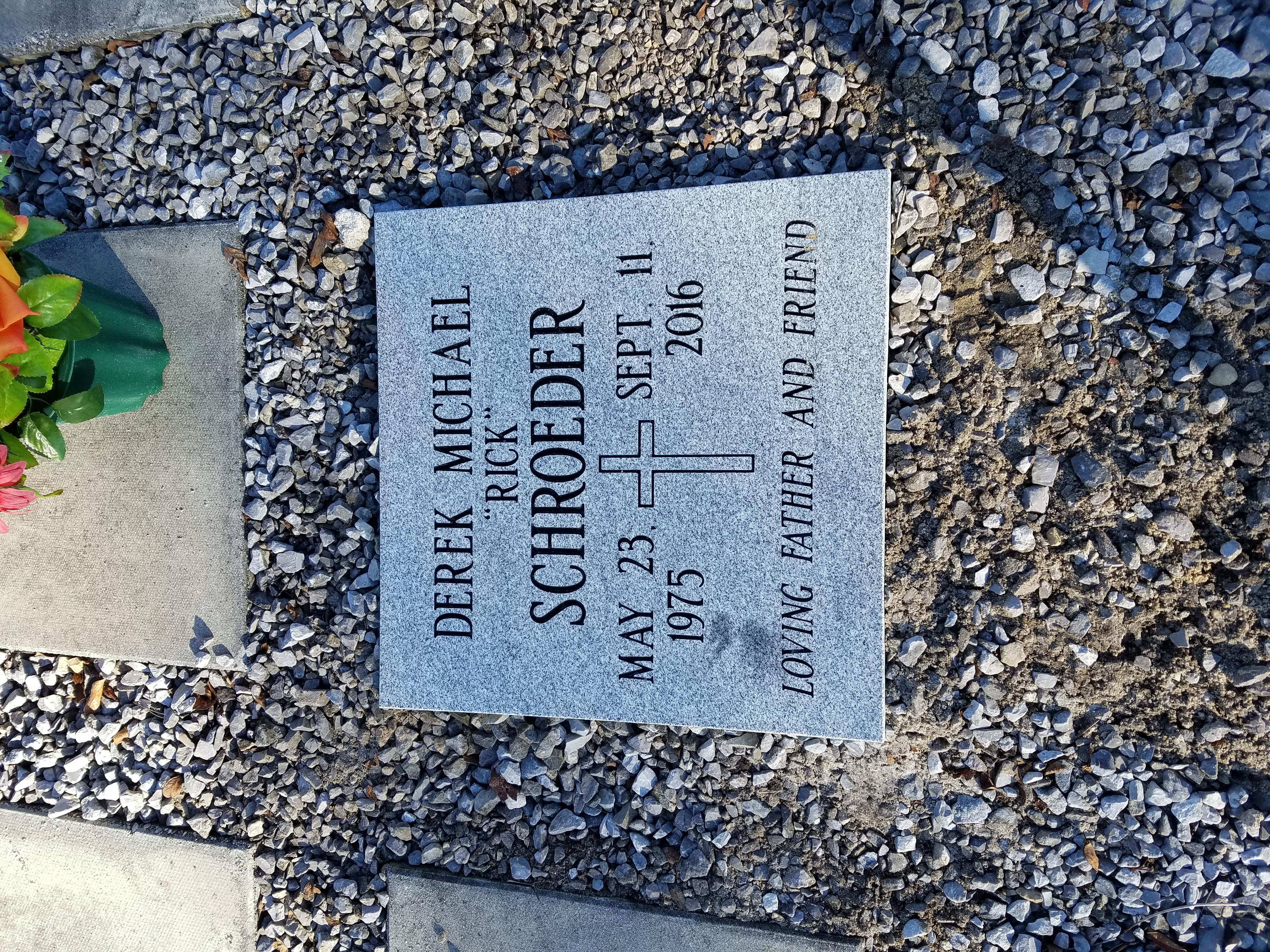 flat granite for cremation