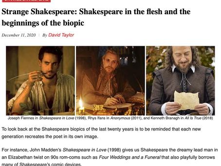 Strange Shakespeare: The beginnings of the Shakespeare biopic