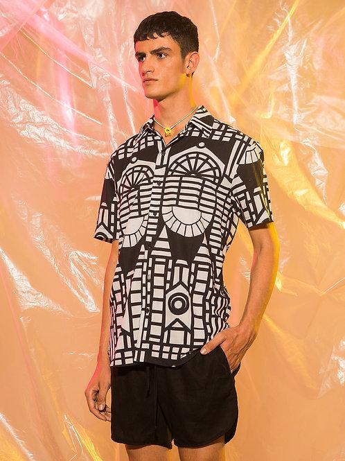 Camisa Vitrais P&B Linho
