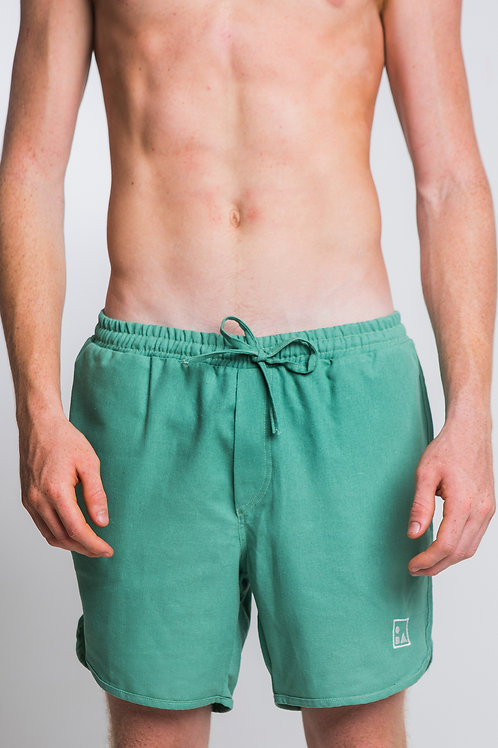 Shorts Linho Verde Monstera