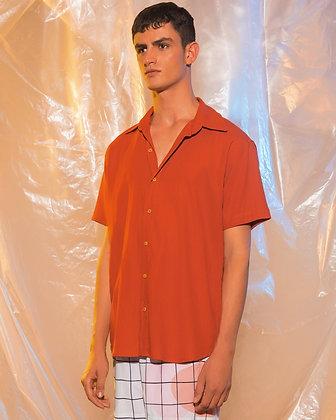Camisa Linho Telha