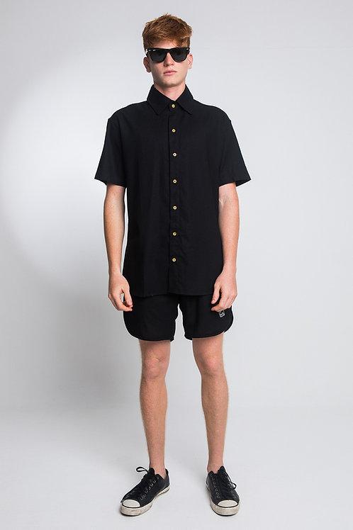 Camisa Linho Preta