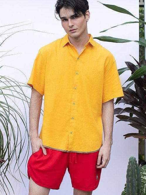 Camisa Linho Amarelo