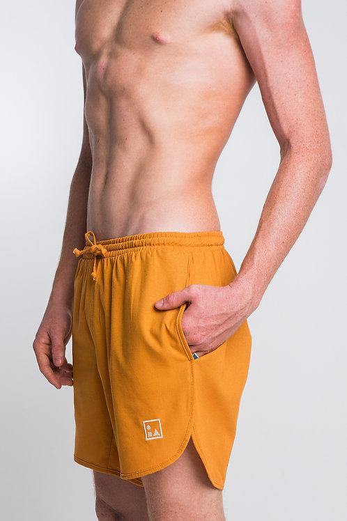 Shorts Linho Mostarda