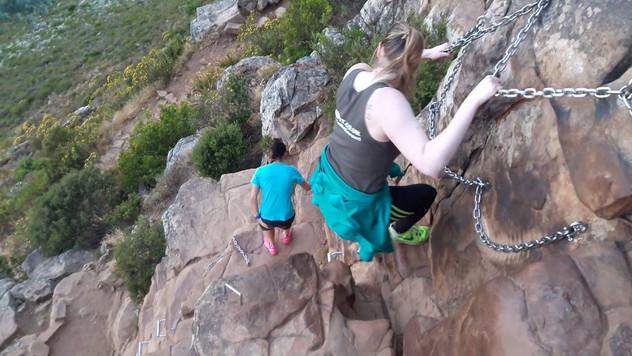 Climbing Lions Head Mountain